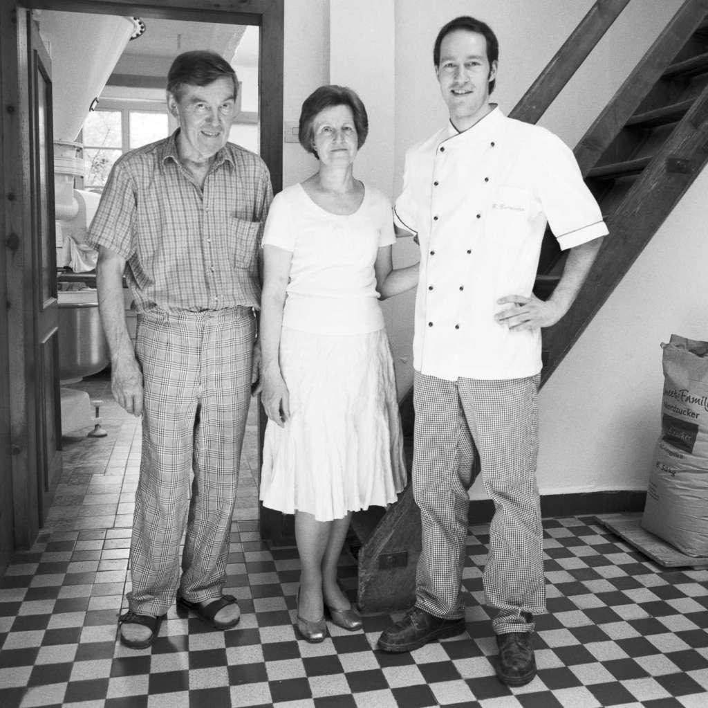 von links: Berhnard Burrichter sen.; Eva-Maria Burrichter; Bernard Burrichter jun.